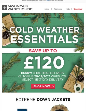 Save Up To £120 | Hurry Christmas Delivery Cut Off Is 20th December!