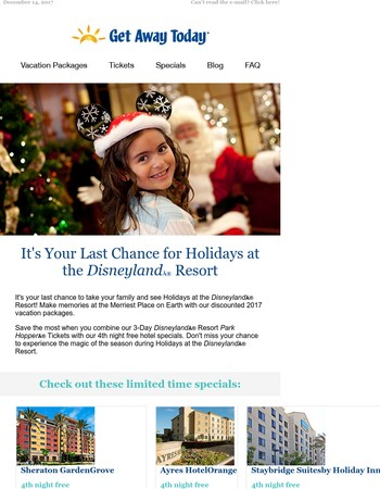 It's Your Last Chance for Holidays at the Disneyland® Resort