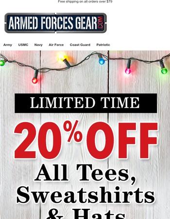 Worthy Gifts -  20% Off ALL Tees, Sweatshirts and Hats!