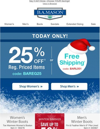 Get Free Shipping Or 25 Off It S Your Choice