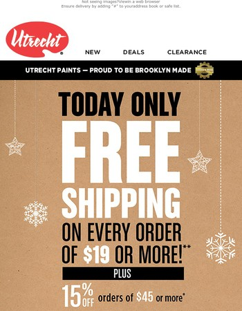 Free shipping offer enclosed - make your Friday more festive!