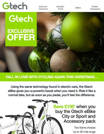 Fall in love with cycling again this Christmas...