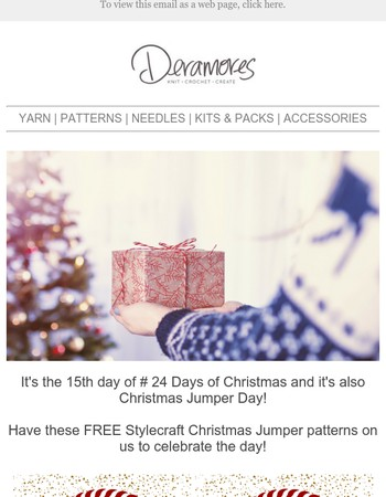 Happy Christmas Jumper Day - Have 2 Free Patterns + 15% Off