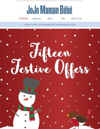 15 festive offers   Final day!