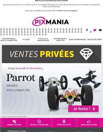 Vente privée Parrot : drones, pots connectés... jusqu'à -33%