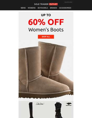 Up to 60% off boots | UGG, Caterpillar + more