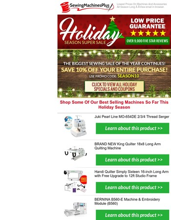 Save On Holiday Season Best Sellers