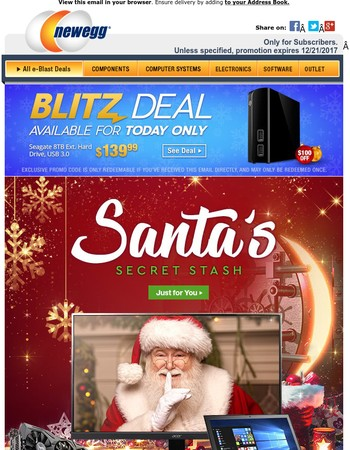 Today Only: $100 Off Seagate 8TB Ext HDD, $284.99 ASUS Strix Radeon RX 580 8GB