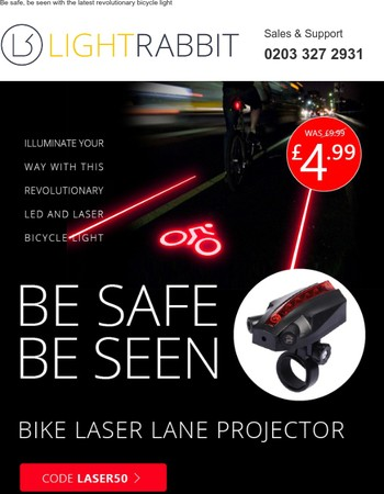 Half Price Laser Bike Lane Projectors for a limited time.