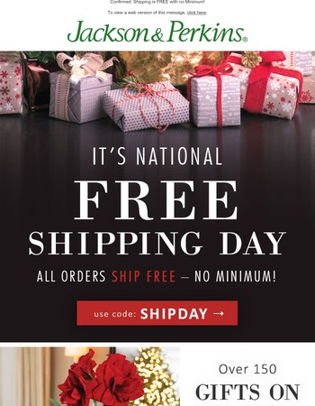 FREE SHIPPING DAY is HERE!
