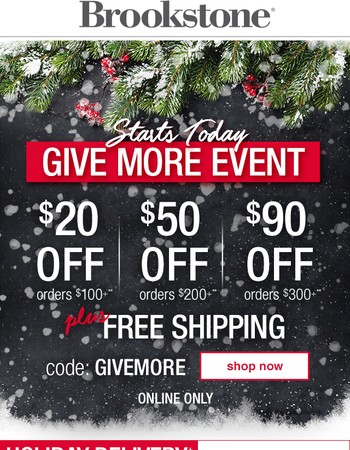 Up to $90 Off + Free Shipping = Christmas Shopping Done!