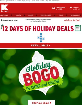 Official BOGO announcement! We're treating you so you can finish Christmas shopping!