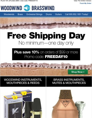 ✋ Hold everything, please. It's FREE SHIPPING DAY
