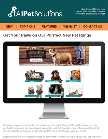Exciting New Pet Product Ranges from All Pet Solutions