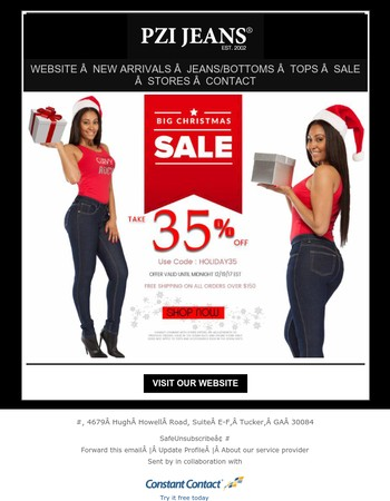 Are Your Curves Ready For Christmas? Take 35% Off Your Entire Purchase-Shop Now