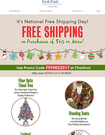 National Free Ship Day Continues   Shop & Save Today!