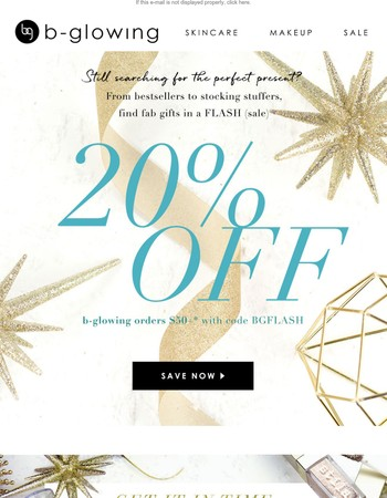 Find the perfect present with 20% off!