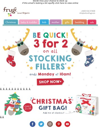 Ends Monday! 3 for 2 on stocking fillers