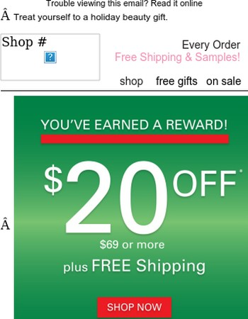 You earned it - $20 off your next purchase!