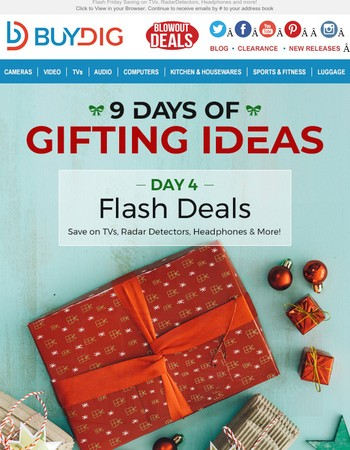 Flash Savings Gifts from LG, Shark, Klipsch, Cobra and More + Fast FREE Shipping by the 25th!