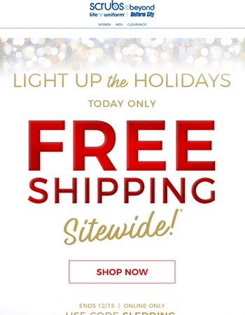 Hurry! FREE SHIPPING ends soon!