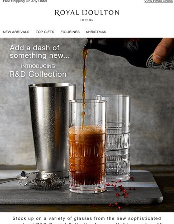 Enjoy a classic or old favorite in our sophisticated new barware