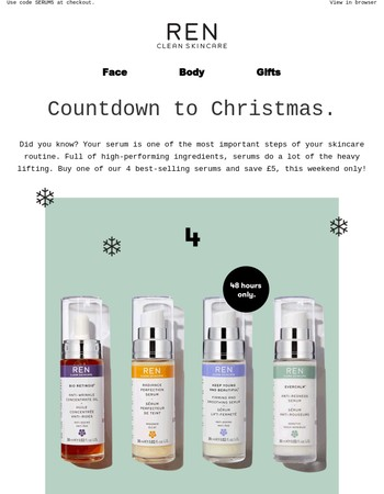 Take £5 Off Your New Serum + Free Next Day Delivery On UK Orders Over £30