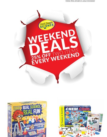 Weekend Deals - 25% OFF Real Science Real Fun & Chemistry Kit - Chem C2000