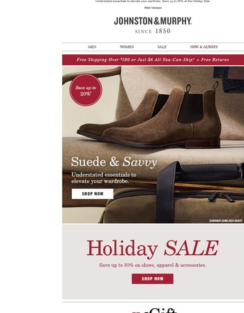 Suede & Savvy - Save Up to 30%