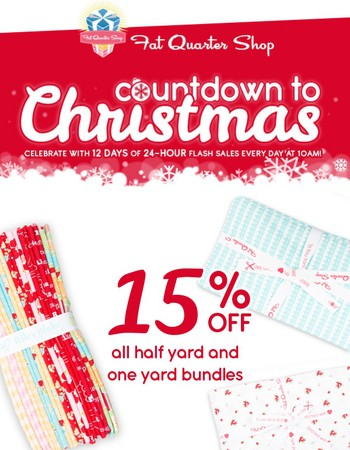 Today's gift... 15% off half yard and one yard bundles!