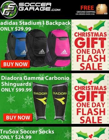 Christmas Flash Sales Extended | SoccerGarage.com