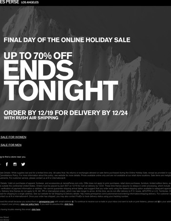 Last Day: The Holiday Sale Ends Tonight