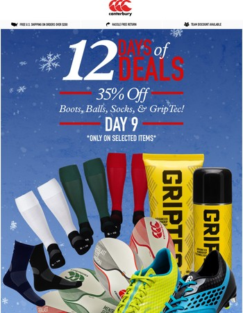 Get Yourself Some New BOOTS! BALLS! GRIPTEC! SOCKS!  35% Off Today Only ⛄