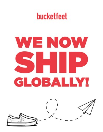 Bucketfeet Now Ships EVERYWHERE