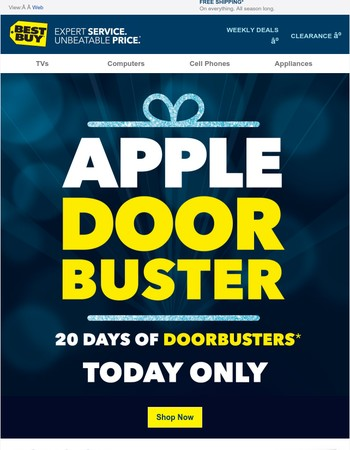 TODAY ONLY—Score the APPLE DOORBUSTER you've been waiting for
