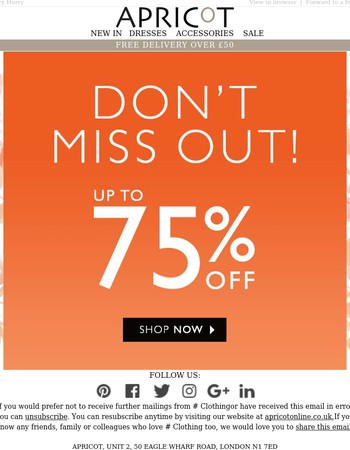 75% off dont miss out !