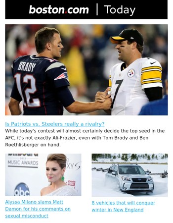 Is Patriots vs. Steelers a genuine rivalry?