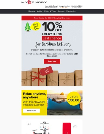 10% Off Everything - Times Running Out