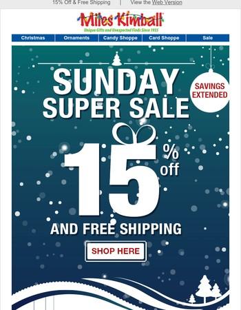 Surprise! Super Saturday Sale Extended!