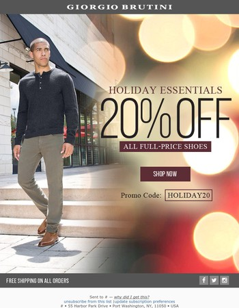20 Off All Full Shoes Holiday Essentials