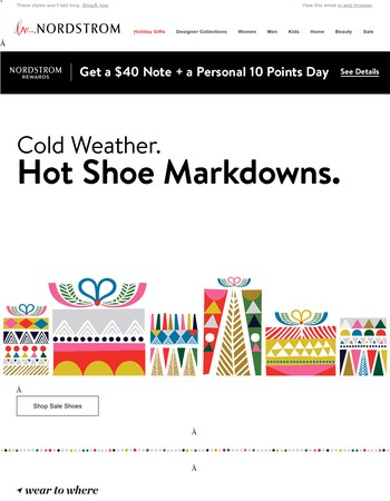 Markdown alert! Save on shoes