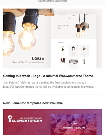New theme coming soon + New Elementor templates