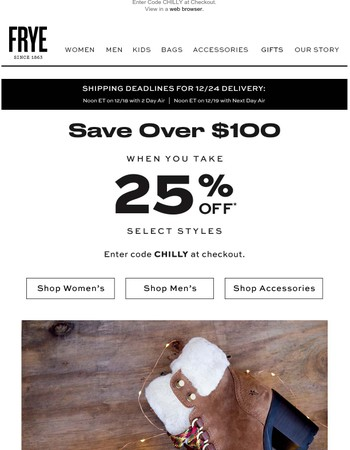 Save Over $100 When You Take 25% Off