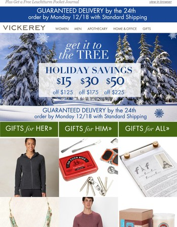 Get It to the Tree & Take Up to $50 Off - Ends Tomorrow