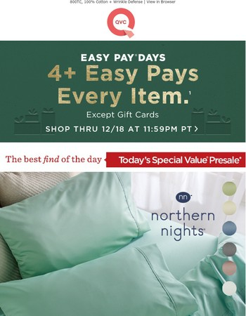 TSV Presale: Northern Nights Sheet Set on Easy Pay