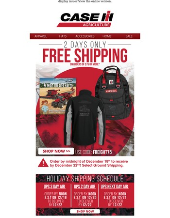 REMINDER: Order by Midnight Tomorrow and Get Free Shipping!