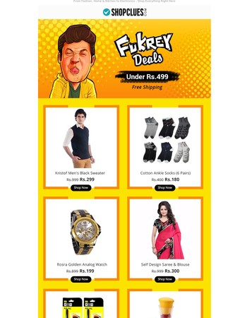 Now Showing! Chucha's Fukrey Deals Under Rs.499 | Free Shipping