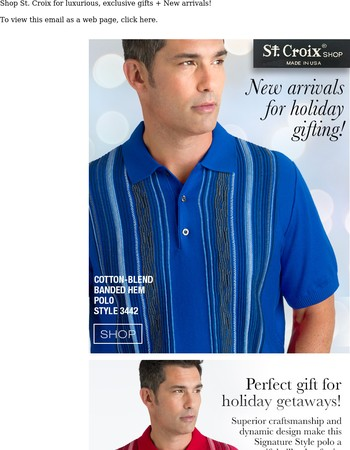 """""""New arrivals = Exclusive Gifts for Your Holiday Getaway!"""""""