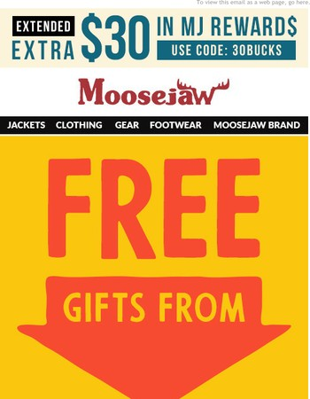 FREE Gifts from our Favorite Brands      Get an Extra $30 in Reward$