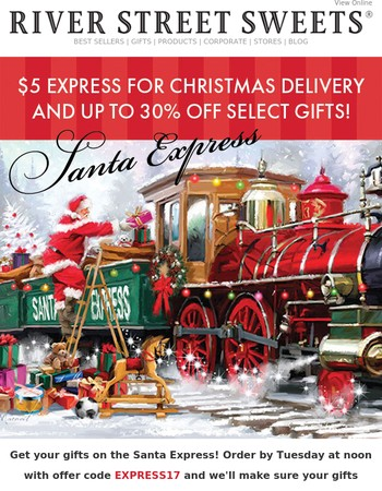 $5 Express & up to 30% off sweet gifts for Christmas